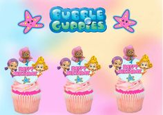 24 Bubble Guppies Cupcake Toppers  Molly by HandmadePartyDecor, $15.00