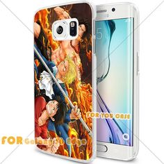 New OnePiece Anime Cartoon Manga Cell Phone23 S6 Edge Case, For-You-Case Samsung S6 Edge White Silicone Case Cover NEW fashionable Unique Design