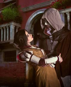 Ezio and Cristina cosplay by BougainvilleaGlabra on DeviantArt Creed Quotes, Best Cosplay, Awesome Cosplay, Assassins Creed 2, Video Game Cosplay, Some Pictures, Video Games, Photoshop, Fan Art