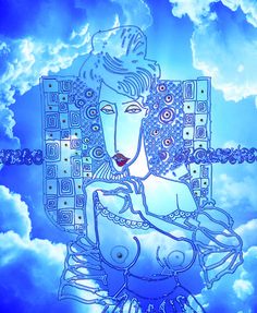 Cód.: 1022 AT - Artista Edson Verti - Tamanho: 80 x 100 - Técnica mista impressão digital  sobre Tecido