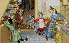 B3785 Alfred Mainzer vestida Cartão Postal De Gato, # 4851 in Colecionáveis, Cartões postais, Animais | eBay
