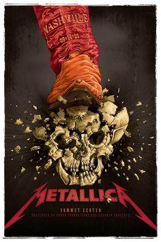 Metallica Concert Poster https://www.facebook.com/FromTheWaybackMachine