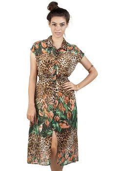 Cheetah Calla Lily Dress