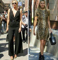 Uma combinação linda e fashion que sempre da certo! Preto e animal print.♥️✨ #mariasharapova #jessicahart #fashionstyles #black #animalprint