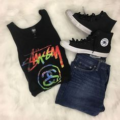 Attention guys!! Need a new fall wardrobe? We got you here at Harwood Heights! Tons of awesome brands for 50-70% off! Stussy Obey Nike Levi and more! | Tank: Stussy L $8 | | Jeans: Gap 30W $15 | | Shoes: Converse 12 $18 | http://ift.tt/2wM7MmH - http://ift.tt/1HQJd81