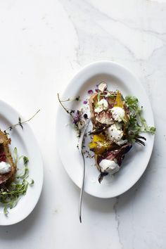 Roasted beets with y