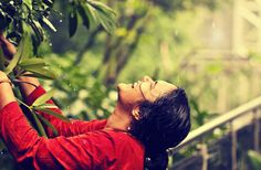 Playful - That's how she makes the rain last longer. Manu Ignatius