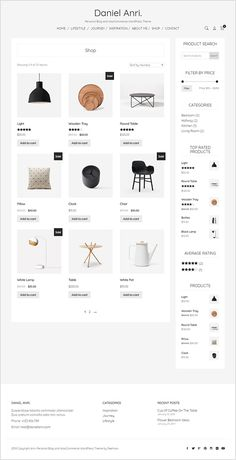 Minimalism in the design of online stores Online Web Design, Ecommerce Template, Ecommerce Website Design, Ecommerce App, Blog Layout, Web Layout, Layout Design, Minimal Website Design, Promo Flyer
