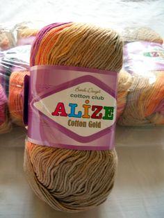 Alize Cotton Gold yarn soft hypoallergenic batik by HandyFamily, €4.95