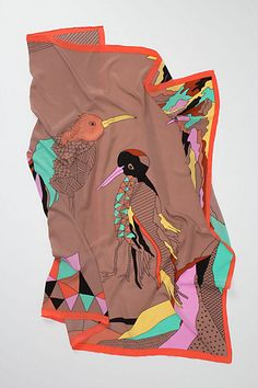 Gallery Birds Scarf - $128.00 //  A silk scarf that will set her apart in all the right ways.