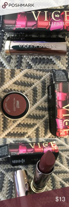 Urban decay Vice lipstick in Amulet Brand new in box. Color is amulet. Metallized formula. Sephora Makeup Lipstick