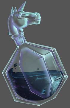 ArtStation - Unicorn Vial, Alexandra Danielsson Potion Bottle, Bottle Art, Fantasy World, Fantasy Art, Magic Bottles, Fashion Design Drawings, Antique Perfume Bottles, School Uniforms, Elements Of Art