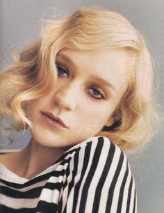 pin curls--Chloe Sevigny