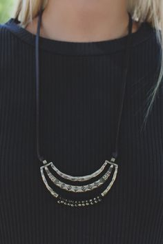 Etched Longline Leather Cord Necklace – UOIOnline.com: Women's Clothing Boutique