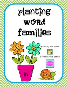 This is a mini lesson or station work for word families. There are