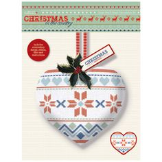 PMA 106102, Papermania Christmas in the Country Cross Stitch Heart Kit - Fair Isle