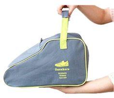 Life Palaza Big Sneaker Storage Bag ,Portable Waterproof Nylon Travel Shoe Bags for Basketball Baseball Tennis Shoes (Gray) *** See this great product.
