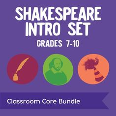 Shakespeare Intro Set: Save $3 when you purchase all of our introductory Shakespeare products together! This bundle is packed with everything you need to welcome the Great Bard to your class. It includes our Shakespeares Birthday Party task cards and activities, colorful RAFT research cards, sonnets lesson plan, and iambic pentameter poster.