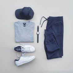 Men Casual T-Shirt Outfit 🖤 Very Attractive Casual Outfit Grid, Komplette Outfits, Casual Outfits, Fashion Outfits, Hipster Outfits Men, Laid Back Outfits, Fashion Hats, Outfit Grid, Today's Outfit, Shirt Outfit