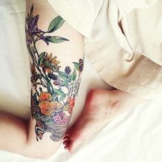 berries and flowers would love ass a half sleeve