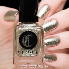 Cirque Reflektor is a reflective platinum silver polish made with silver-coated micro-flakes.  Designed and made in the USA! This nail polish is designed by Annie, owner of Cirque.  Application: Opaque in 1-2 coats.  Texture: This nail polish dries smooth. We still recommend applying clear top coat over the nail polish for a longer lasting mani! Size: 13.2 mL / .45 fl oz 3 free and cruelty free