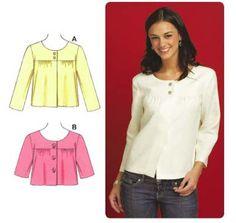 Kwik Sew 3584 - Misses' Jackets with Round Neckline