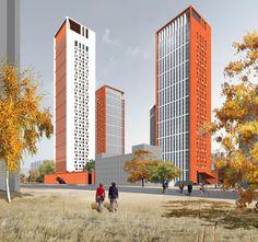 Жилой комплекс на Рублёвском шоссе : Sergey Skuratov Architects