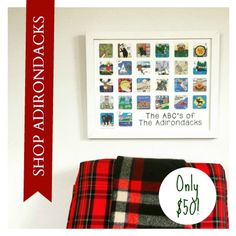 The ABC's of the Adirondacks from the Karyn Burns Limited Edition Minnies Collection. The PERFECT Adirondack holiday gift! Only 25 available, so shop now!