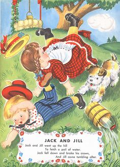 Vintage Nursery Rhyme Jack and Jill