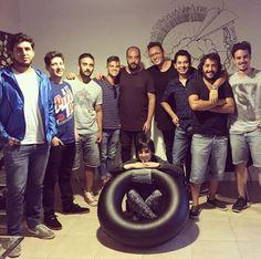 Pablo, Fer, Marcos, Luchín, Rodrigo, Ramiro & chicos de la escuelita de verano 2