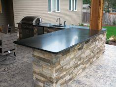 Absolute Black Honed Granite Countertop In Sammamish WA from GraniteMarbleWA.com