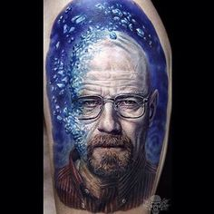 Heisenberg Porträt Mehr Bilder auf www.tattoogram.co #tattoo #tattoos #tat #ink #inked #Tattoogram #tattooed #tattoist #coverup #art #design #instaart #instagood #sleevetattoo #handtattoo #chesttattoo #photooftheday #tatted #instatattoo #bodyart #tatts #tats #amazingink #tattedup