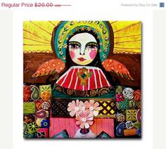 Xmas Delivery Available- Mexican Folk Art Ceramic Tile Angel Virgin of Guadalupe Art Mexican Talavera Tiles Gift COASTER Madonna, Pop Art, Mexican Folk Art, Angel Art, Religious Art, Our Lady, Framed Art, Art Prints, Inspiration