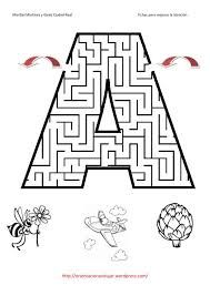 Laberintos de letras A-Z - http://materialdidactico.org/laberintos-de-letras-a-z/