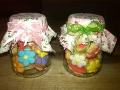 Frascos con galletas mini