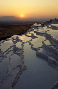 pamukkale, turkey - soak in the natural rock pools at sunset