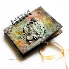 Wondreland - mini journal by finnabair, via Flickr