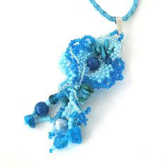 Hey, I found this really awesome Etsy listing at https://www.etsy.com/listing/230337653/blue-necklace-beadwork-necklace-pendant