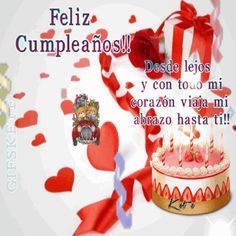 The perfect FelizCumpleaños HappyBirthday Cake Animated GIF for your conversation. Spanish Birthday Wishes, Happy Birthday Qoutes, Happy Birthday Niece, Free Happy Birthday Cards, Happy Birthday Wishes Cake, Happy Birthday Cake Images, Happy Birthday Video, Birthday Greetings, Good Morning Greetings
