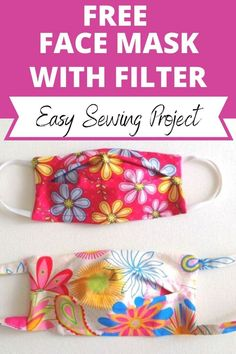 Learn how to sew face masks with filter pockets using this easy DIY tutorial. This mask sewing project will teach you to sew face masks without a template. Easy and quick to sew, these masks with four layers of fabric and a filter in between will give you the maximum protection possible, if not complete. #sewingproject #facemaskdiysewing #facemasksewingtutorial facemasksewingdiy