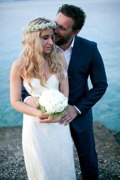 Ilianna & Leonidas wedding, Beach Wedding, Spetses Wedding Beach, Lace Wedding, Wedding Dresses, Fashion, Bride Dresses, Moda, Bridal Gowns, Fashion Styles, Weeding Dresses