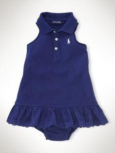 Sleeveless Eyelet Polo Dress - Infant Girls Dresses & Rompers-