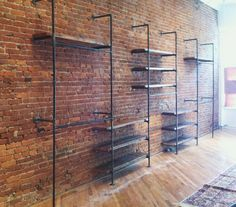 gas piping shelves