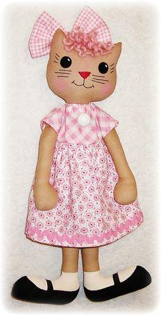 Kitty Cat Softie patrón patrón de costura PDF por OhSewDollin