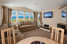 The stylish Willerby Granda holiday home with its bright and light interior feel.