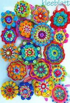 lovely crochet mandalas #crochetmandala #crochetcolourful