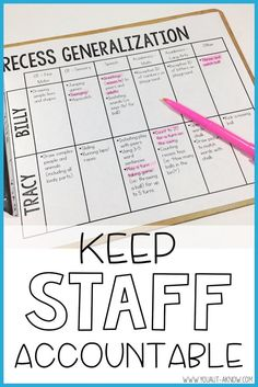 Keep your staff accountable for students practicing IEP goals throughout their day. Use an activity matrix and a highlighter and you're going to see a ton of growth in your Special Education classroom!
