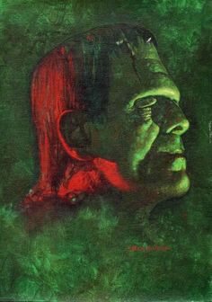 Boris Karloff as the Frankenstein monster by Sanjulian (Manuel Pérez Clemente), via My Little Ghoulie thats a strong looking guy not bad looking! Sci Fi Horror, Arte Horror, Horror Films, Horror Art, Beetlejuice, Dracula, Creepy, Scary, Horror Monsters