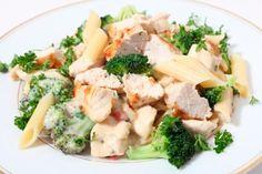 Penne met knoflookkip en broccoli #recept