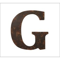 Pottery Barn Rustic Metal Letter ($31) ❤ liked on Polyvore featuring home, home decor, office accessories, brown and pottery barn